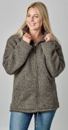 Fleece lined - pure wool jacket - Brown