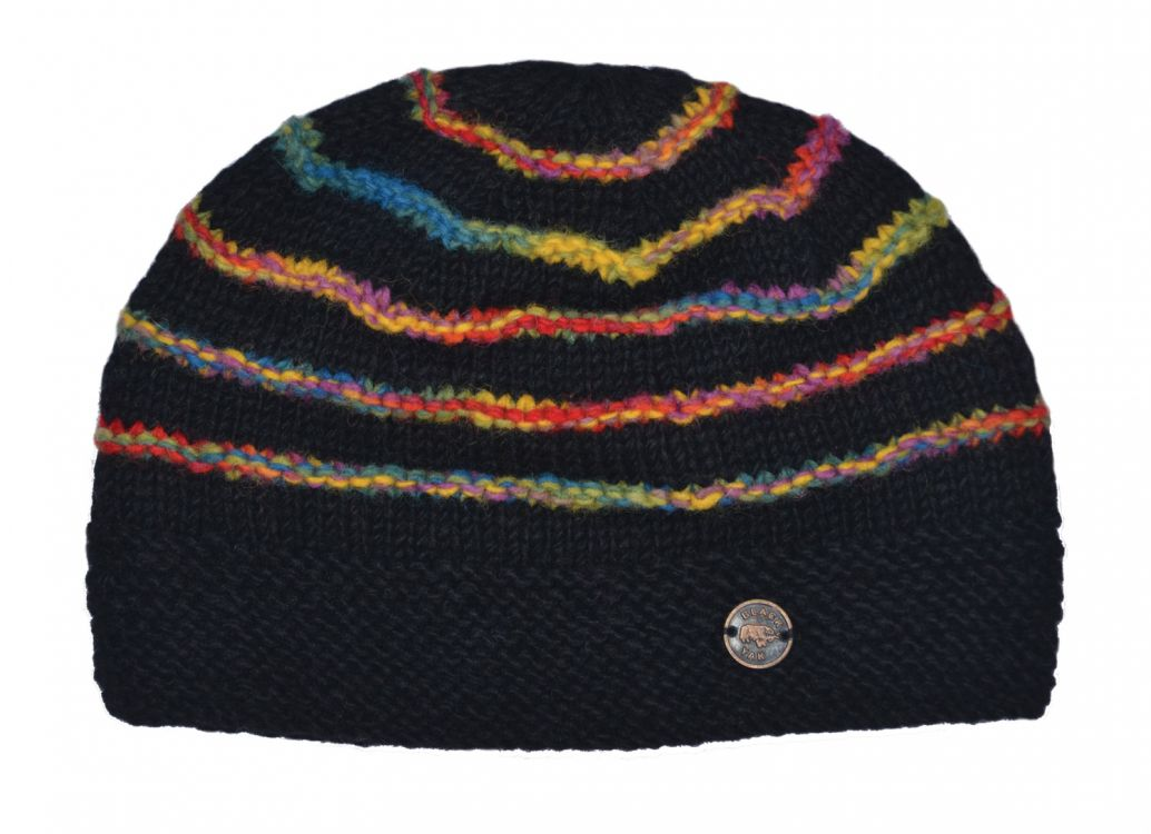Electric Ridge Beanie - pure wool - black