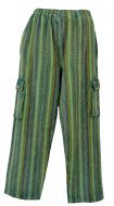 Brushed cotton trousers - greens