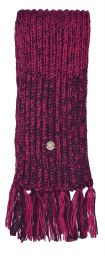 Long - pure wool scarf - Aubergine/berry