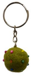 Beaded Keyring - Green