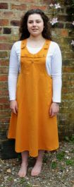 Fine cotton - pinafore dress - mustard