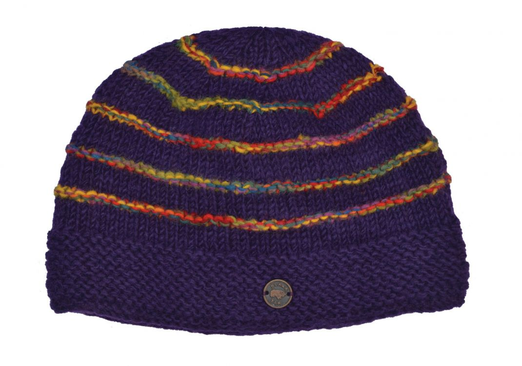 Pure Wool - Electric Ridge Beanie - Purple