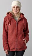 Fleece lined - detachable hood - heather - Rust
