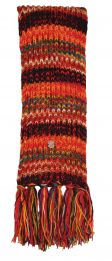 Long pure wool - electric stripe scarf - multi