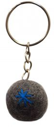 Star Keyring - Grey/Blue