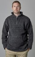 Fleece lined - pure wool pull on - Charcoal
