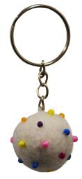 Beaded Keyring - White