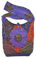 Stonewashed - Swirl Embroidered - Bag - purple