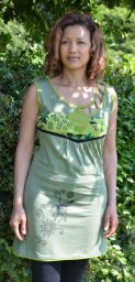 ***SALE*** - Cut out detail - sleeveless tunic - pale green