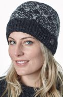 Snow Pattern Beanie - Charcoal