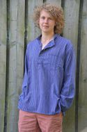 Light weight - Striped Cotton Shirt - Purples