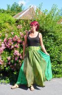 Panel Skirt - Tie Dyed - Green
