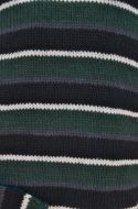 Pure wool jumper - random stripes - green