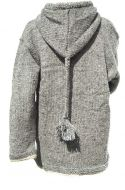 hooded jacket - plait rope - Mid Grey