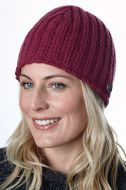 Easy rib beanie - machine washable - berry