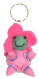 Flower Baby -  Key Ring - Pink Body