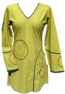 ***SALE*** - Cotton Tunic - Embroidered Circles - Green