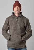 Fleece lined - pure wool pull on - Brown