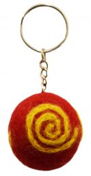 Swirl Keyrings - Red/Yellow
