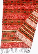 Fleck shawl - red