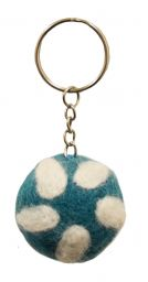 Petal Keyrings - Blue/White