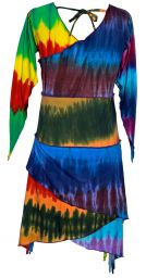 Stretch fit - patchwork dress - rainbow