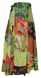Jaipuri - Patchwork Skirt - Greens