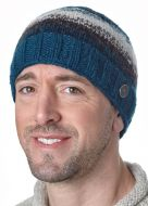Natural electric beanie - Teal