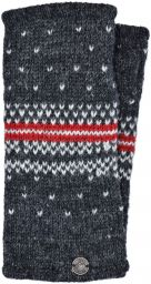 Pure wool - Nordic wristwarmers - grey/red