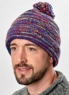 Reverse Electric Bobble - pure wool - rainbow