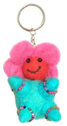 Flower Baby - Key Ring - Turquoise Body
