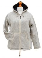 pure wool - hooded jacket -  Light Grey