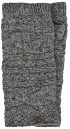 NAYA - hand knit - sampler - wristwarmer - Mid Grey