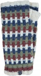 NAYA - Fleece lined wristwarmers - geometric - woodland