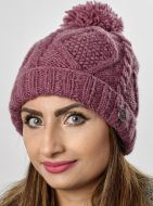 Turn up - celtic bobble hat - Mulberry