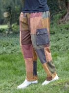 patchwork trousers - browns