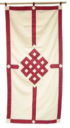 Eternal knot - Door Curtain - Maroon