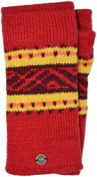 V' band - pure wool wristwarmer - red