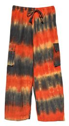 Tie Dyed cargo Trousers - Desert