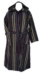 Gheri - soft brushed cotton - dressing gown/robe - purple/multi
