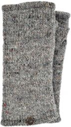 Pepper - pure wool plain wristwarmer - grey