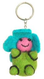 Flower Baby - Key Ring - Green Body