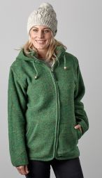 Fleece lined - detachable hood - heather - Green