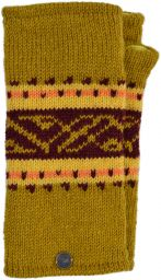 V' band - pure wool wristwarmer - mustard