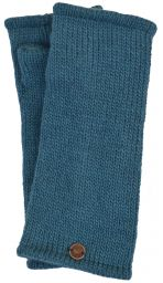 Fleece lined wristwarmer - Plain - Aqua