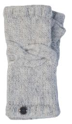 NAYA - pure wool - cable twist - wristwarmer - pale natural