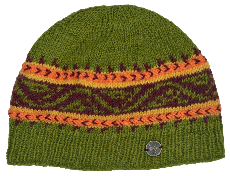 4a283e813fc Hand knit - NAYA - pattern band - beanie - green