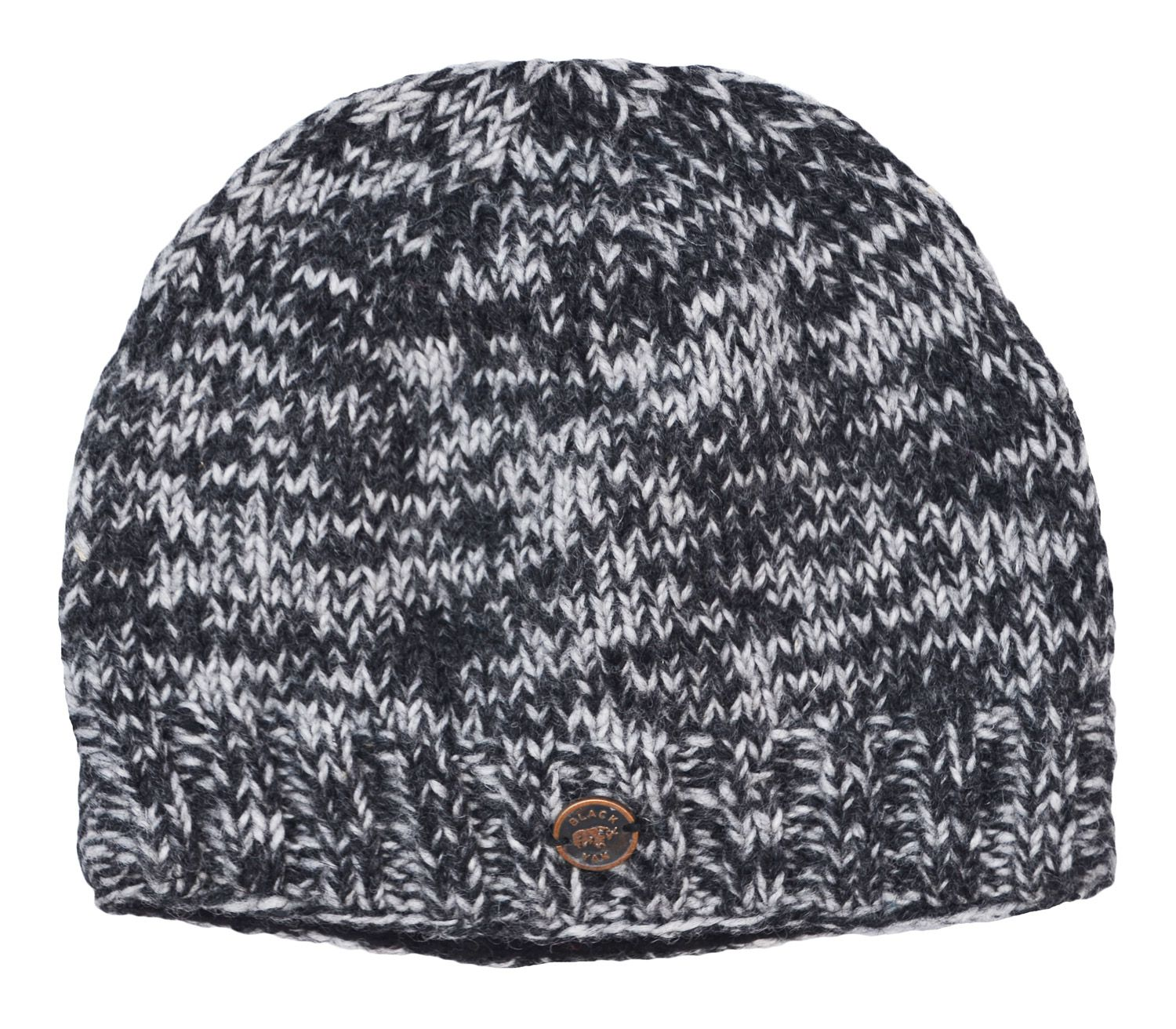 Pure Wool - half fleece - lined beanie - Two tone grey  7dadbbcfb06