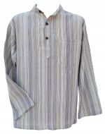 Light weight - Striped Cotton Shirt - Pale